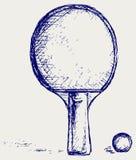 De pingpong van de schets Stock Afbeeldingen