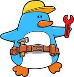 De Pinguïn van de bouw stock illustratie
