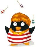 De pinguïn van de clown Royalty-vrije Stock Afbeeldingen