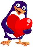 De pinguïn van de valentijnskaart Royalty-vrije Stock Afbeeldingen