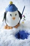 De pinguïn van het stuk speelgoed visserij Royalty-vrije Stock Foto