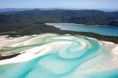 De Pinksterennen Australië van het Whitehavenstrand Stock Foto