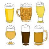 De pintenreeks van het bier Stock Foto's