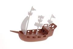 De piraatschip van het stuk speelgoed Royalty-vrije Stock Afbeeldingen