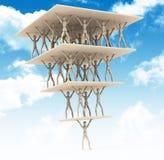 De piramide Royalty-vrije Stock Afbeelding