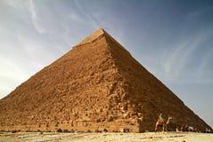 De piramide van Chefren in Egypte Stock Foto
