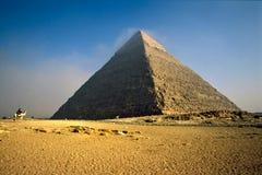 De Piramide van Chefren, Giza, Egypte. stock foto