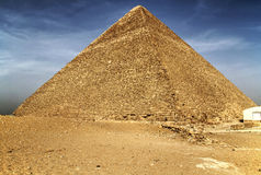 De piramide van Cheops in Giza Royalty-vrije Stock Foto's