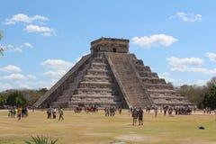 De piramide van Chichenitza op Mexico Stock Afbeeldingen