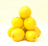 De Piramide van de citroen Stock Afbeeldingen