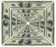 De piramide van de dollar Royalty-vrije Stock Foto's