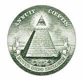 De piramide van de dollar Stock Foto's