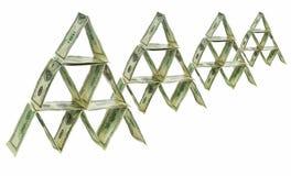 De piramide van de dollar Royalty-vrije Stock Afbeelding
