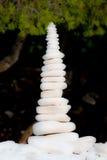De piramide van de kiezelsteen Stock Fotografie