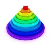De piramide van de regenboog Royalty-vrije Stock Afbeeldingen