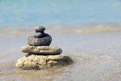 De piramide van de steen Royalty-vrije Stock Foto