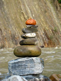 De piramide van de steen Stock Afbeelding
