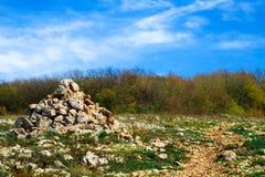 De piramide van de steen Royalty-vrije Stock Foto's