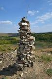 De piramide van de steen Royalty-vrije Stock Fotografie