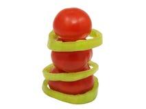 De piramide van de tomaat. Geïsoleerdm. Royalty-vrije Stock Afbeeldingen