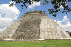 De piramide van de Tovenaar in Uxmal Royalty-vrije Stock Foto's