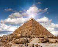De piramide van Giza Royalty-vrije Stock Foto