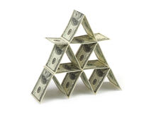 De piramide van het geld royalty-vrije stock afbeelding
