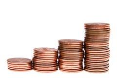 De piramide van het geld Stock Foto