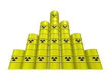 De piramide van het kernafval Stock Afbeeldingen