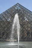 De piramide van het Louvre Royalty-vrije Stock Foto