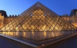 De Piramide van het Louvre Royalty-vrije Stock Foto's