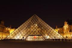 De Piramide van het Louvre Stock Afbeelding