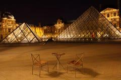 De Piramide van het Louvre Royalty-vrije Stock Afbeelding