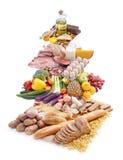 De piramide van het voedsel Stock Foto's