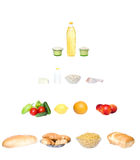 De piramide van het voedsel stock afbeeldingen
