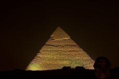 De piramide van Kephren (Giza) Royalty-vrije Stock Fotografie