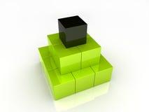 De piramide van kubussen Royalty-vrije Stock Foto