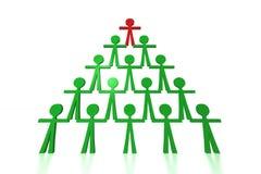De piramide van mensen - de steun van het Team Stock Foto's