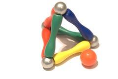 De piramideballen van de kleur stock fotografie