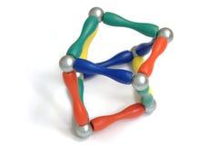 De piramideballen van de kleur royalty-vrije stock afbeelding