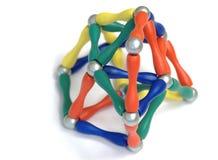 De piramideballen van de kleur stock afbeeldingen