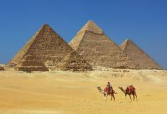 De piramides in Egypte Royalty-vrije Stock Foto's