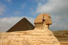 De piramides en de sfinx van Giza. Egypte. Royalty-vrije Stock Afbeeldingen