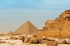 De piramides in Giza Stock Afbeelding