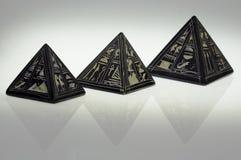 De piramides van de steen Stock Fotografie
