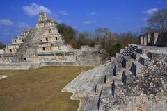 De piramides van Edzna Stock Foto's