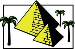 De piramides van Egypte Stock Afbeeldingen