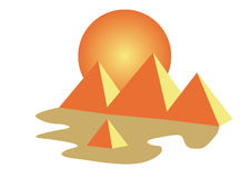 De piramides van Egypte Stock Foto