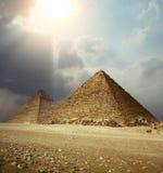 De piramides van Giza Stock Foto
