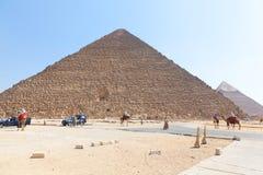 De piramides van Giza, Egypte Stock Afbeelding